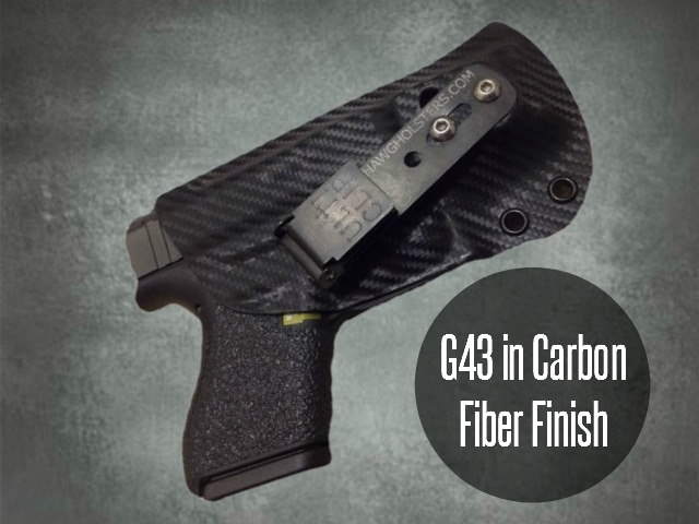 G43 carbon fiber kydex holster